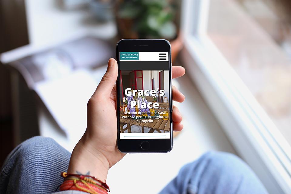 iphone sito web graces place scopello